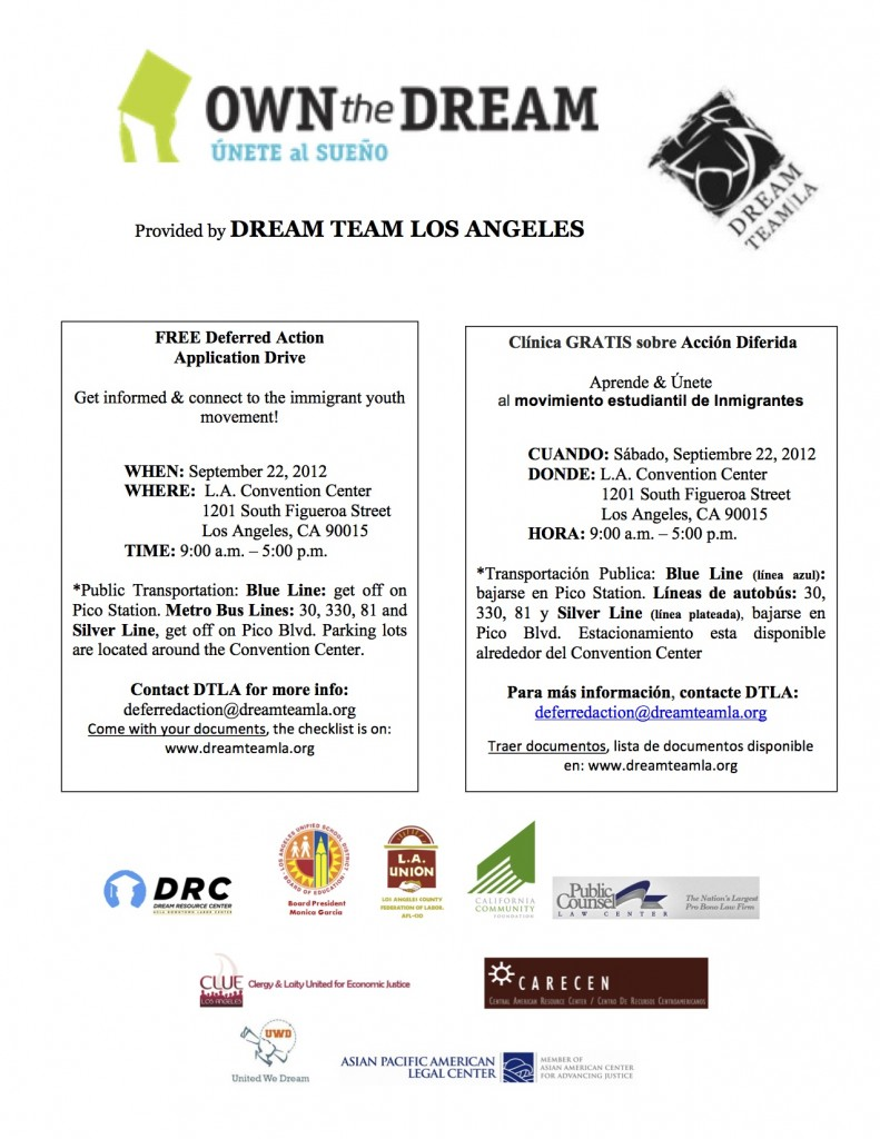 September 22nd Deferred Action Flyer